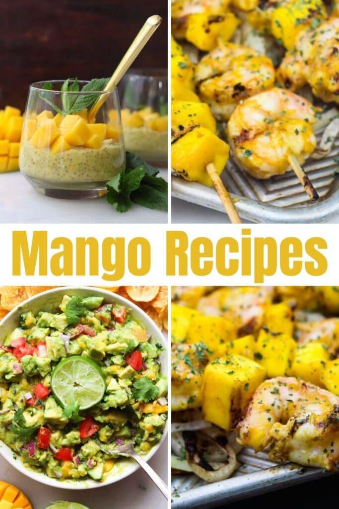 Mango recipes a collage of easy mango recipes to make