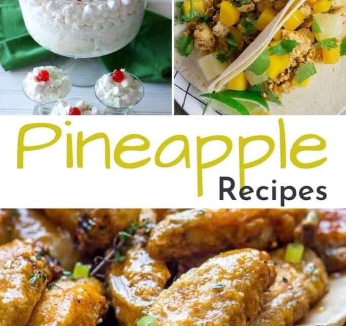 Pinenapple recipes collage of recipe ideas