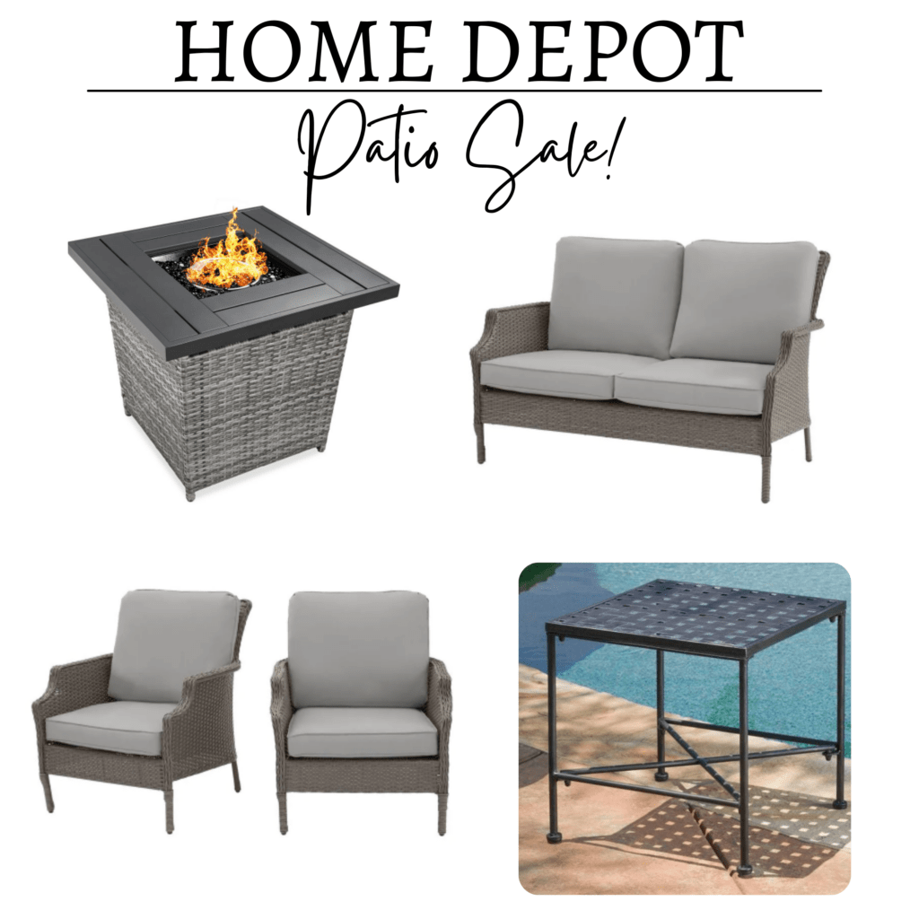 Patio furniture from Home Depot collage of affordable patio decor