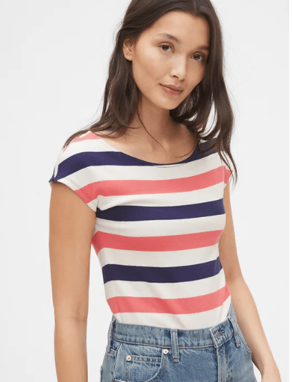 Modern Boatneck Striped T-Shirt on sale at GAP's Memorial Day Event