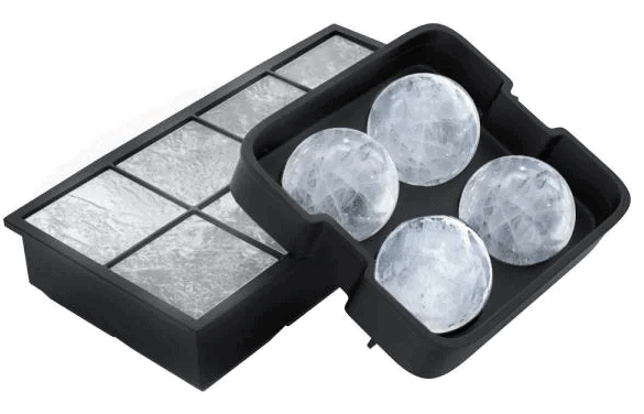 Silicone Slow Melting Ice Cube Trays by Chef Buddy from Home Depot