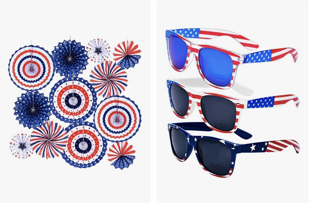 Amazon 4th of July decor and props