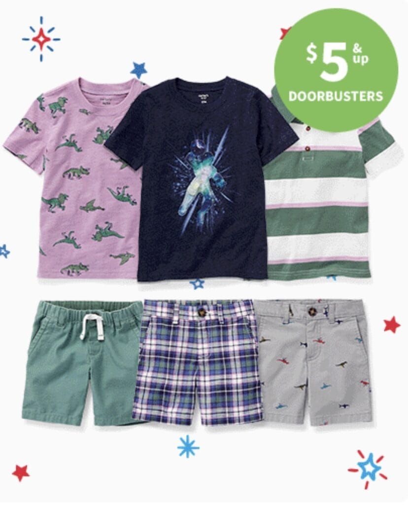 Carter's Doorbuster Sale for 4th of July boys clothing