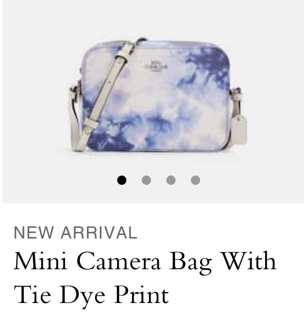 Mini Camera bag with Tie Dye Print from Coach Outlet