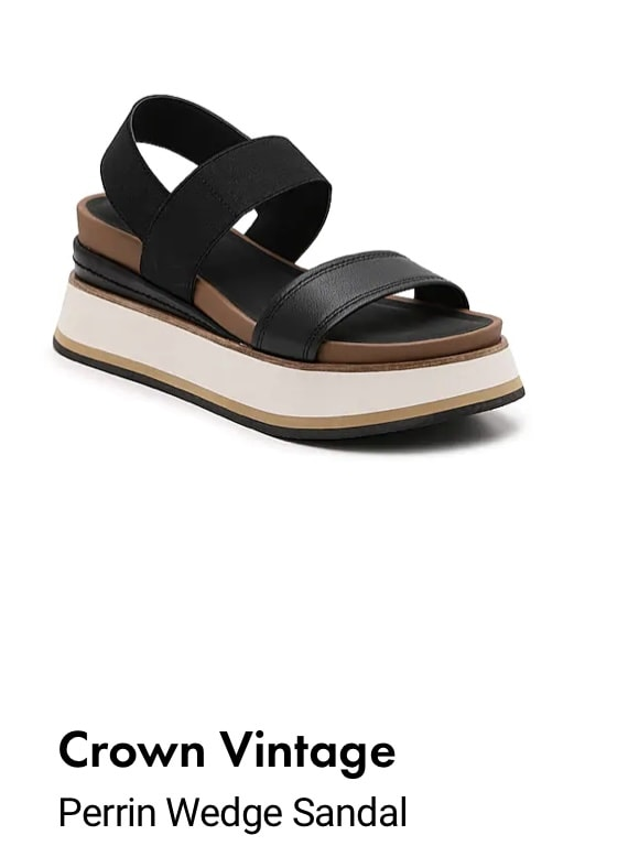 Perrin Wedge Sandals from DSW