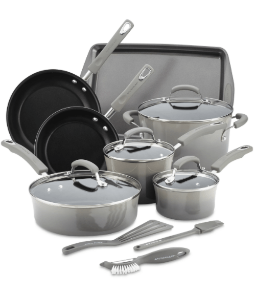 Rachael Ray 14-Pc. Nonstick Cookware Set from the Macy's Big Home Sale