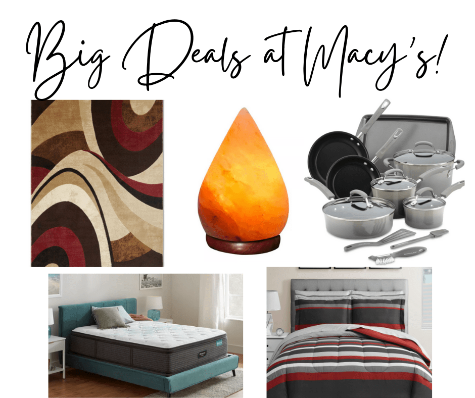 collage of items from the Macy's Big Home Sale