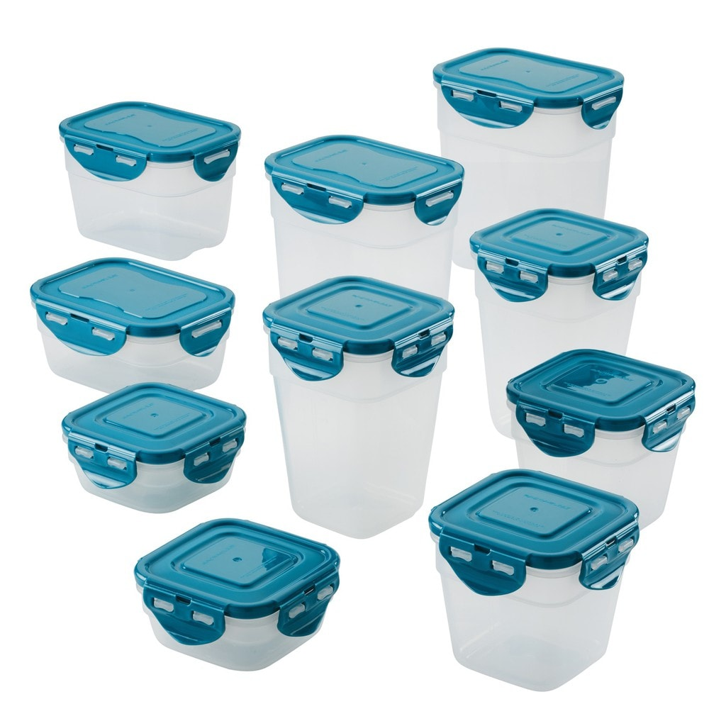 20-Piece Nestable Storage Containers Rachael Ray