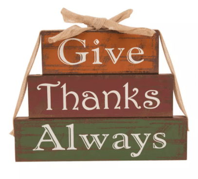 Glitzhome Wooden - Give Thanks Block Set from the Macy's Ultimate Shopping Event