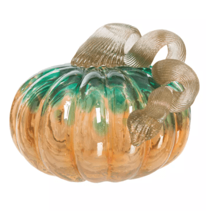 Glitzhome Small Glass Pumpkin from the Macy's Ultimate Shopping Event