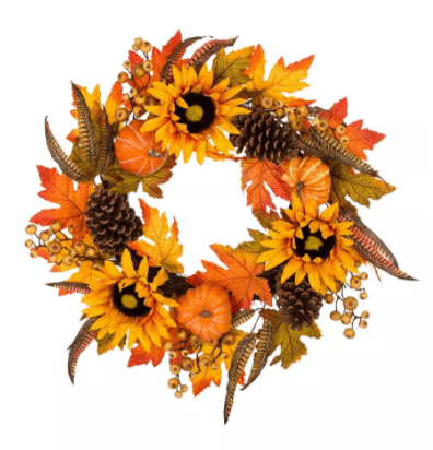Glitzhome Sunflower Wreath from the Macy's Ultimate Shopping Event