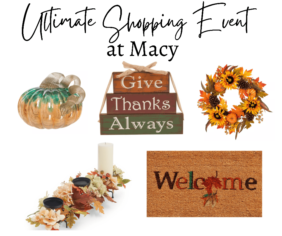 Ultimate Shopping Event at Macy's collage of fall finds