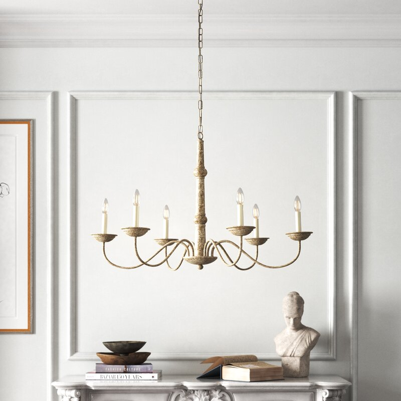 6 - Light Candle Style Traditional Chandelier