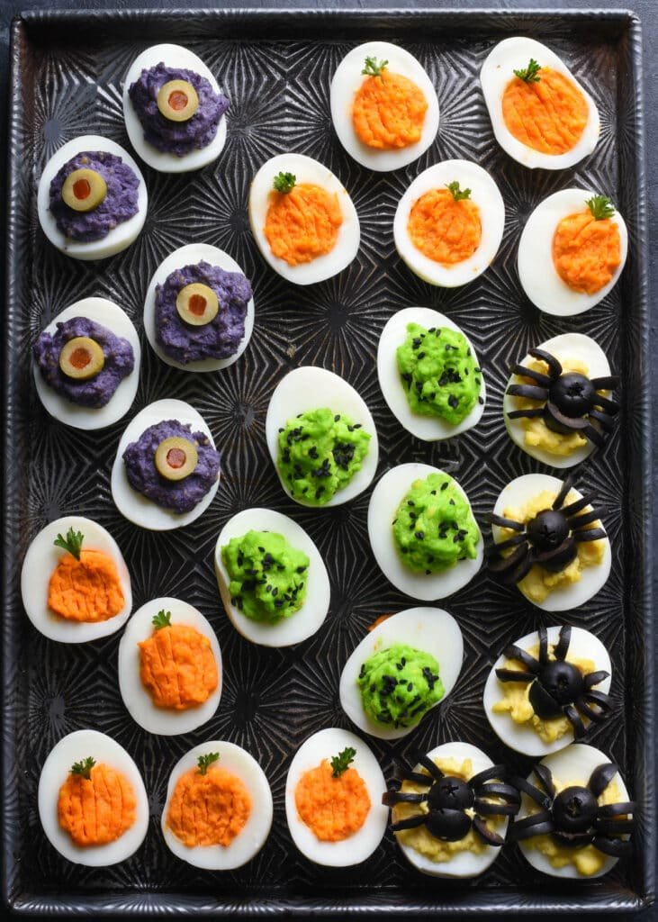 Halloween Party Treats - Halloween Deviled Eggs