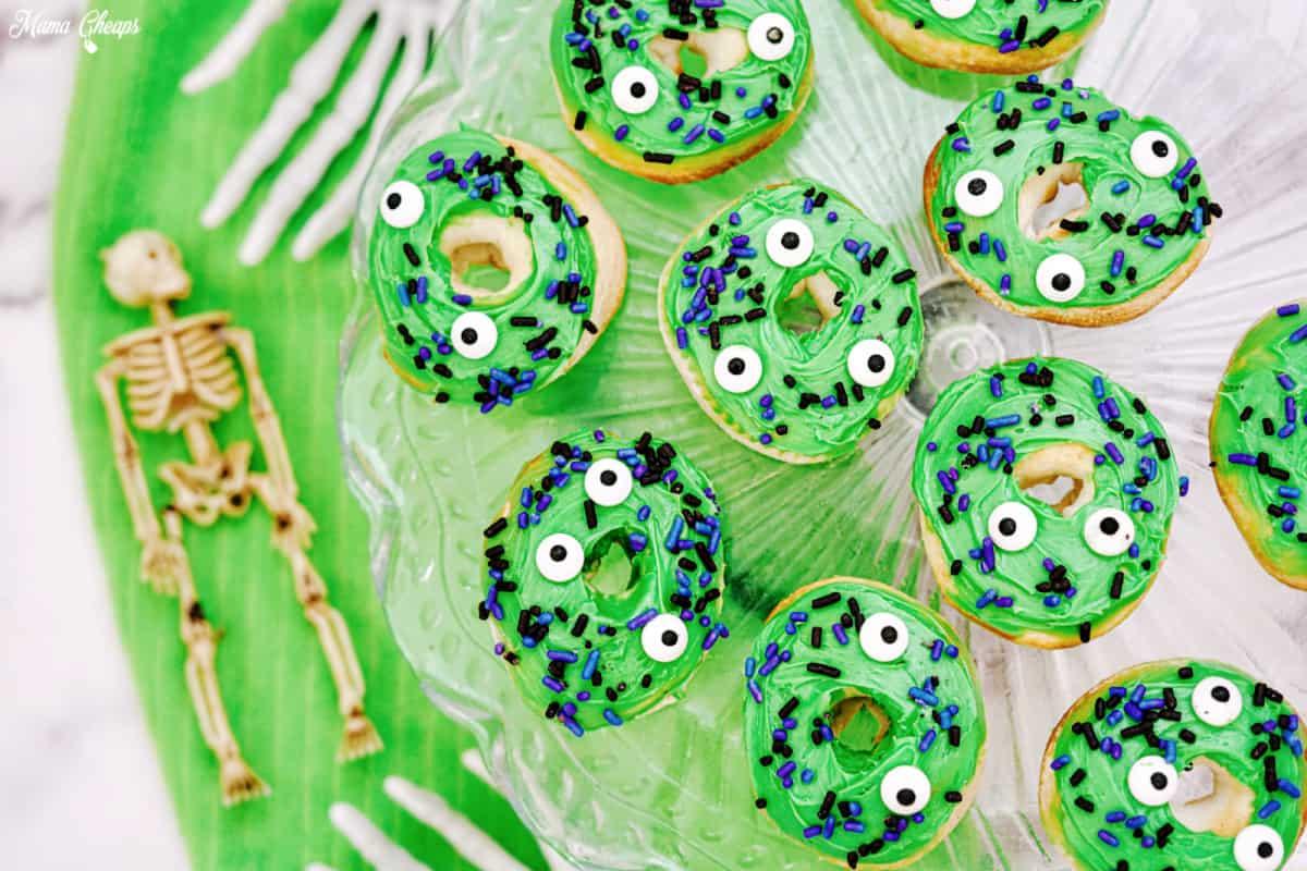 Halloween Desserts - Halloween Monster Donuts