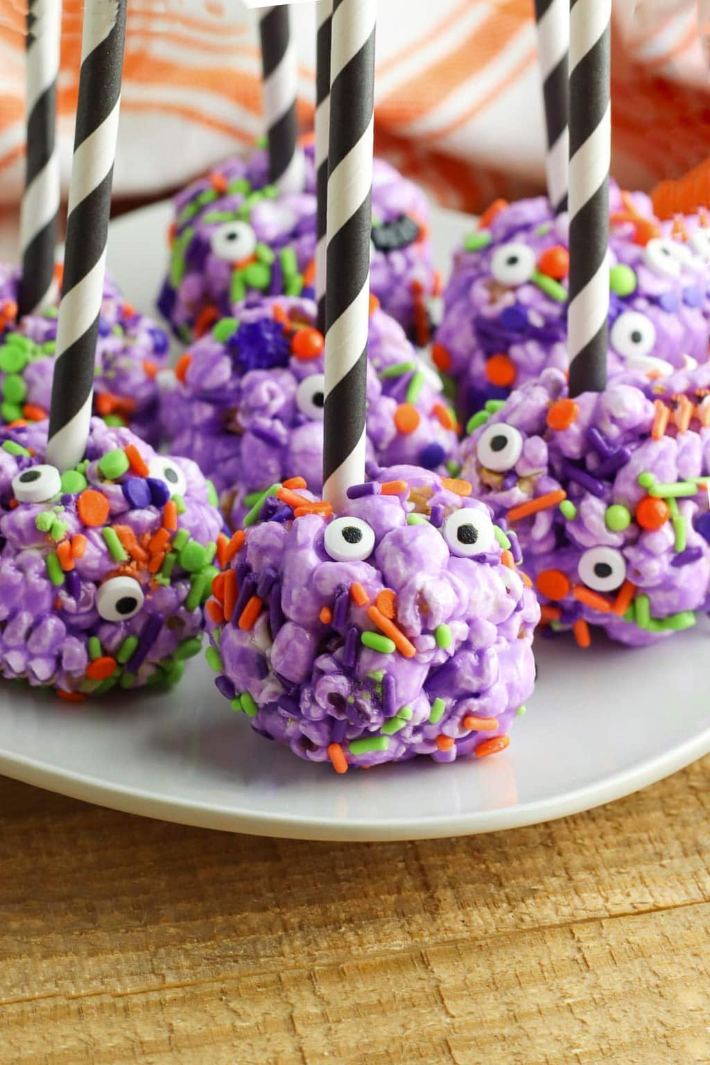 Halloween Party Treats - Halloween Popcorn Balls