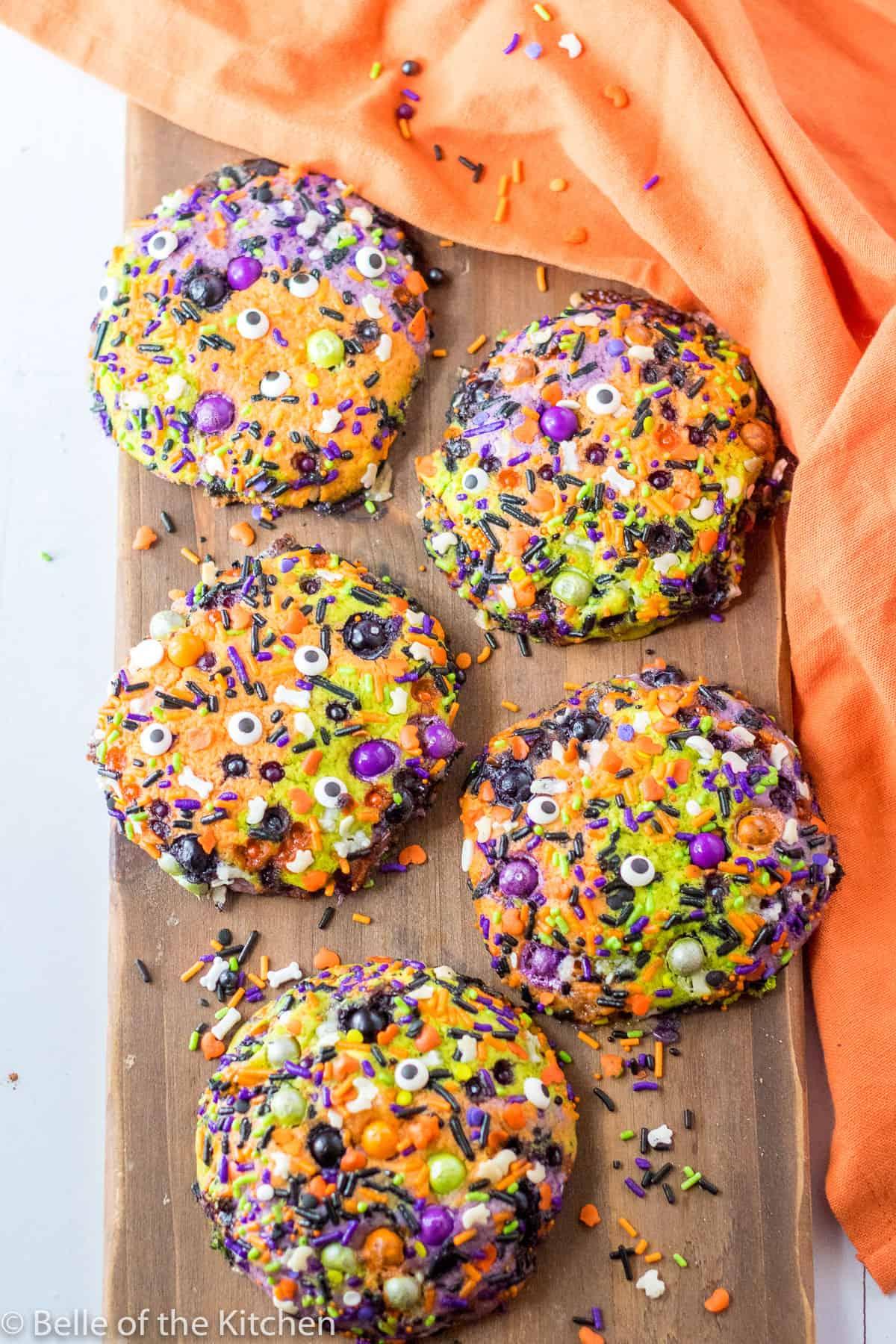 Halloween Desserts - Halloween Sugar Cookies with Sprinkles