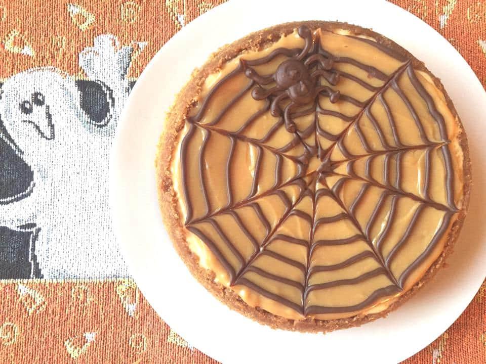 Halloween Party Treats - Instant Pot Halloween Spider Web Cheesecake