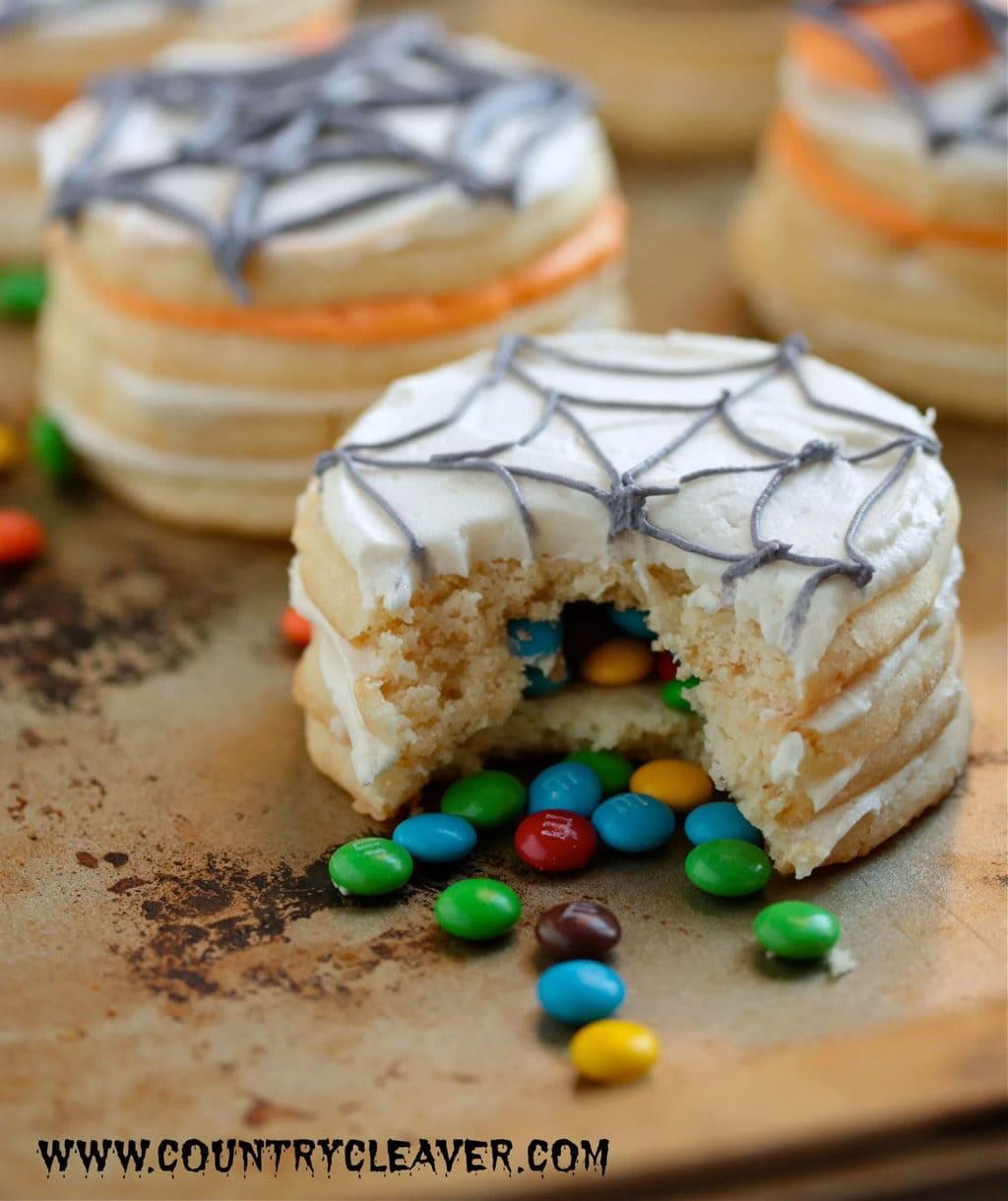 Halloween Desserts - Surprise Sugar Cookie Stacks