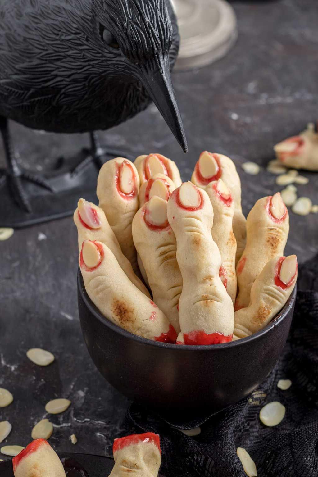 Halloween Desserts - Witch Finger Cookies