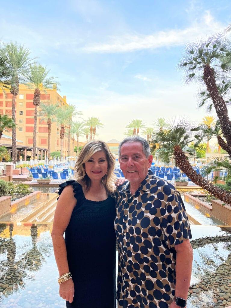 Lori Felix at Renaissance Esmeralda Resort & Spa outdoor dining area