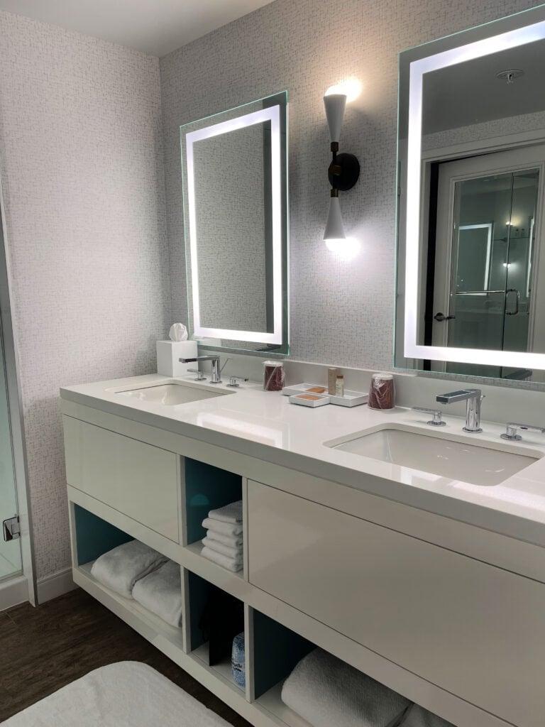 Renaissance Esmeralda Resort & Spa dual sinks in bathroom
