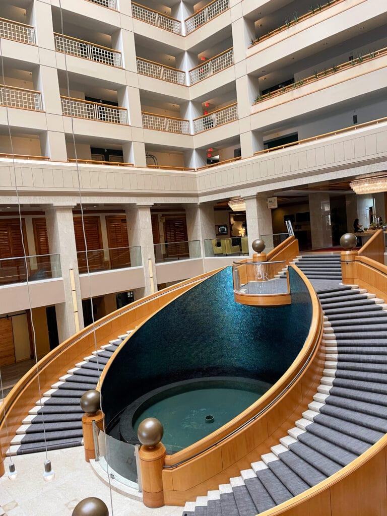 Renaissance Esmeralda Resort & Spa grand staircase