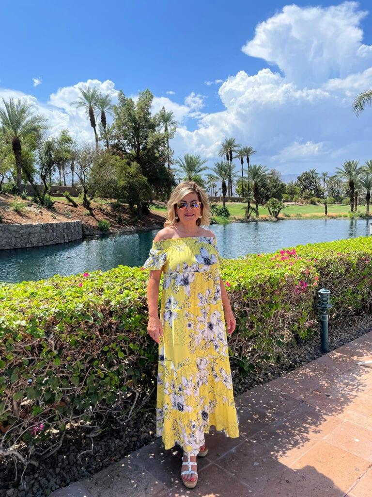 Lori Felix exploring Renaissance Esmeralda Resort & Spa