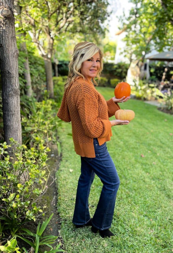 Sofia Jeans by Sofia Vergara Women's Open Stitch Easy Hoodie